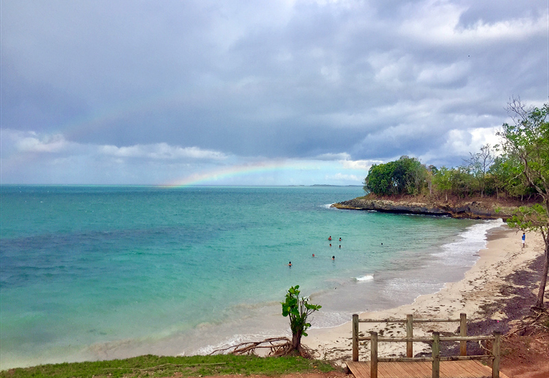 The rainbow as a witness, plage de Mambia