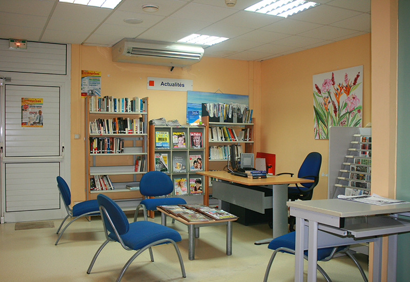 Sainte-Anne, Guadeloupe. Osange Talis Gane Multimedia LibraryOne of the reading rooms