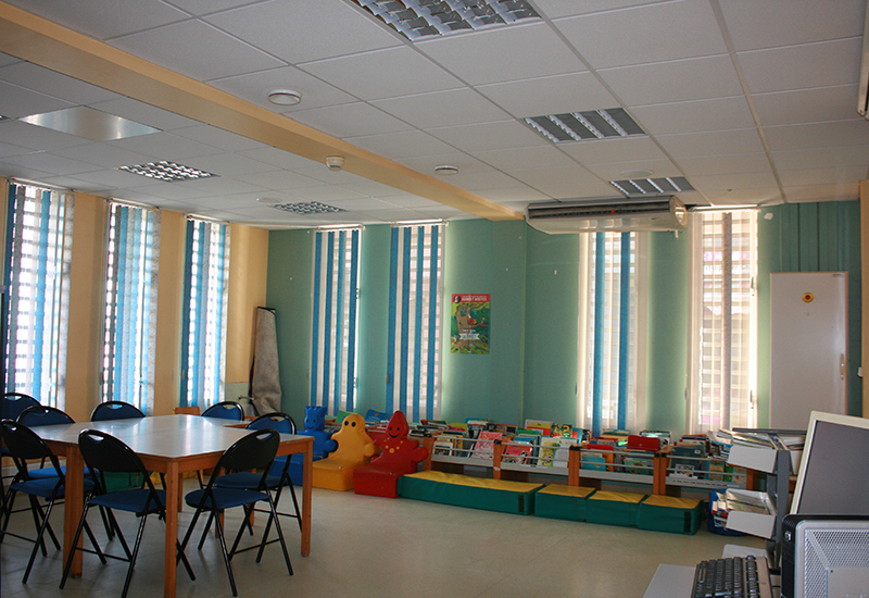 A room reserved for books for children