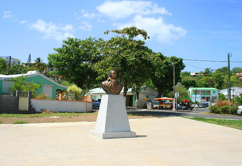 The bust of Louis Delgrès. City of Vieux-Habitants in Guadeloupe
