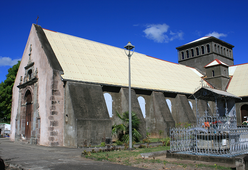 Saint Joseph Church: walls with foothills