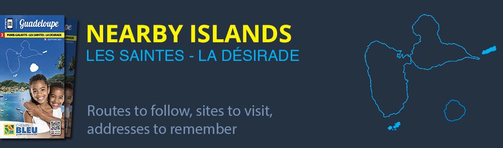 Download map of Guadeloupe's nearby islands